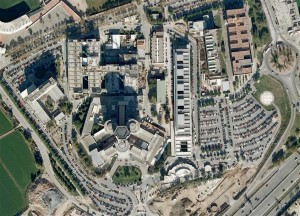 Hospital de Bellvitge des del Google Earth