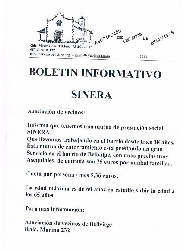 Informacion Sinera