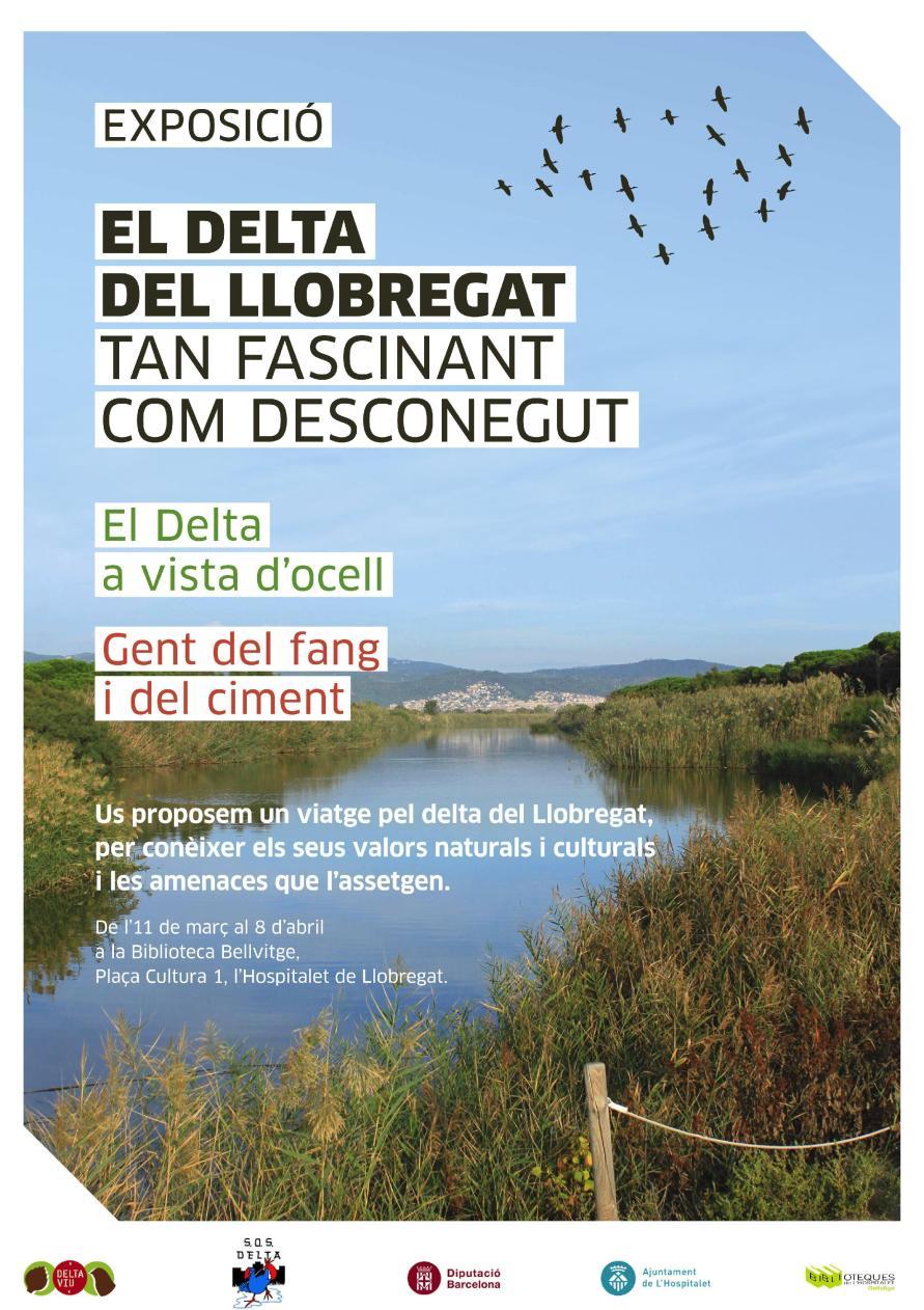 Des de la Biblioteca Bellvitge us volem convidar a venir a veure l'exposició sobre el Delta del Llobregat que tenim instal·lada a la biblioteca fins el dia 8 d'abril.