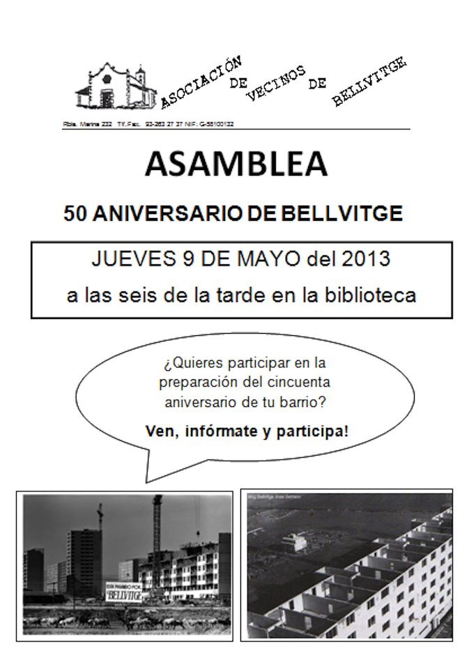 Asamblea Bellvitge 50 Aniversario