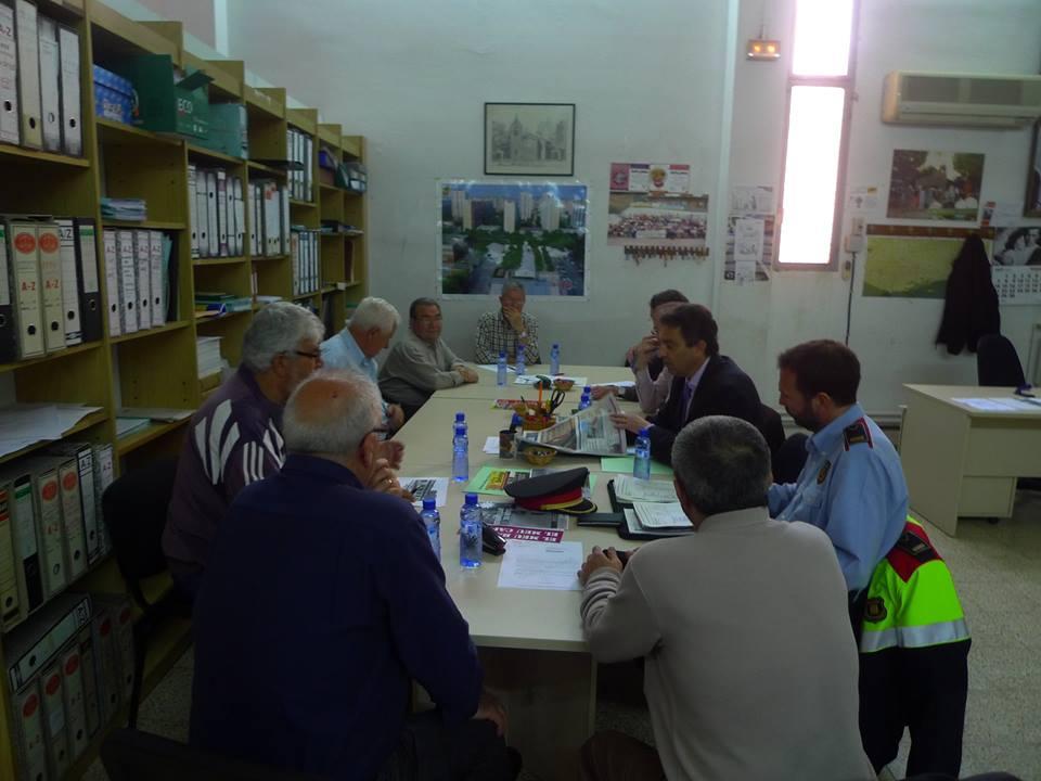 9 DE ABRIL DE 2014  REUNIÓN DE SEGURIDAD CIUDADANA CON LOS JEFES DE MOSSOS DE ESCUADRA Y GUARDIA URBANA