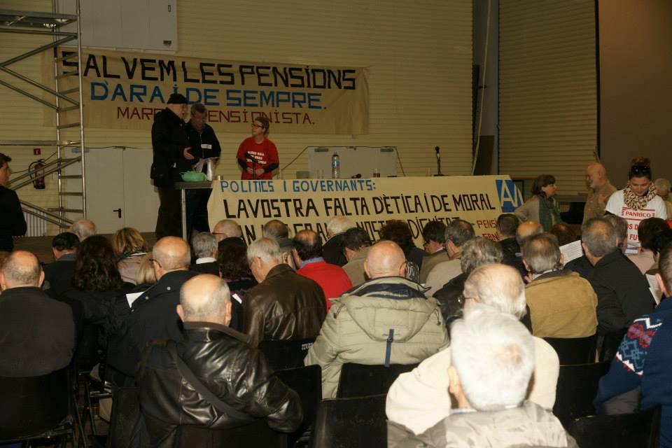 25 febrero 2014 Asamblea Marea Pensionista Cocheras de Sants
