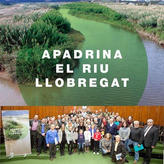 Esta tarde los representantes de ochenta entidades y colectivos de L'Hospitalet han asistido al acto de firma de apadrinamiento del río Llobregat, un acto que simboliza el compromiso de cada colectivo firmante de hacer una actuación en pro del río Llobregat.