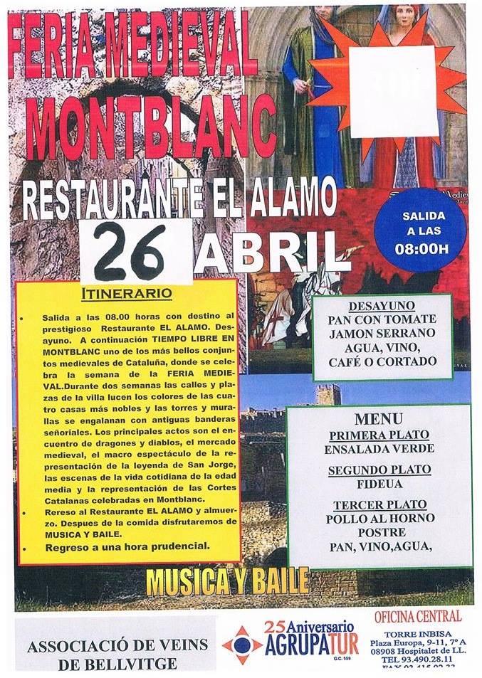 Excursión a Montblanc el 26 de Abril 2014