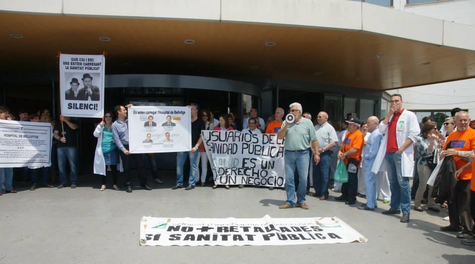 28 de Mayo protestas en el Hospital contra los recortes