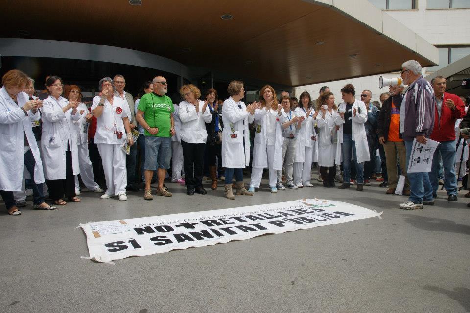 21 Mayo 2014 Protesta de Empleados y usuarios del Hospital de Bellvitge